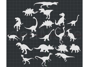 Collection of Dinosaurs 2D Wall Art