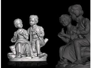 statue of lovers - statua innamorati -  estatua de los amantes - statue d'amateurs