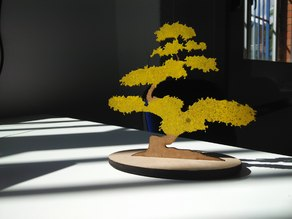 Decorative Bonsai in laser cut