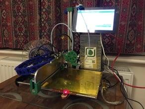 Raspberry Pi Touchscreen mount for Ormerod 2 printer
