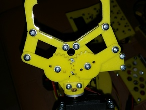 3D printable robotic arm claw gripper