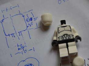 Generic Lego-compatible figurine head