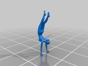 Nude model gim pose