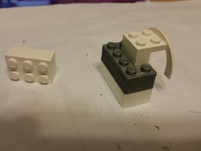 2 by 4 Lego block