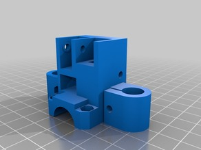 redesigned parts for Hypercube 3d printer