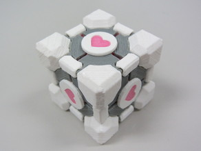 Companion Cube - modular, snap-together, colorized