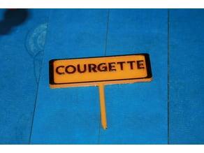 Panneau potager  Courgette