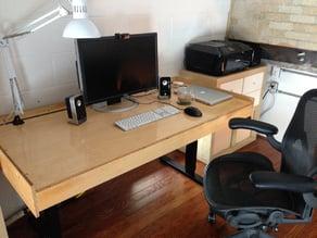 Ultimate CNC Cut Height Adjustable Desk