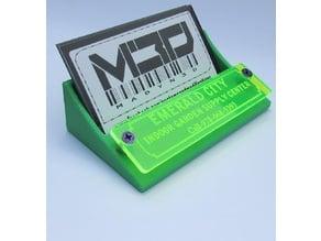 Card Holder w/ Laser Cut/Engraved Plate