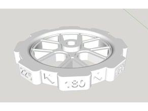 CR10 precision leveling knob Remix 2