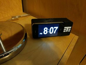 iPhone Flipclock dock - convert your old iphone 4 or 5c to a retro vintage flip clock