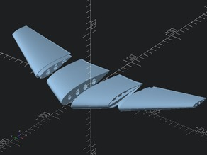Openscad Parametric Flying Wing Test  ---NACA Airfoil