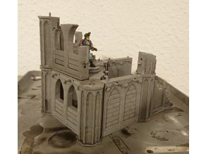 Modular snap-fit gothic ruins