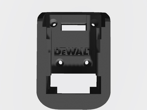 Dewalt battery mount with logo