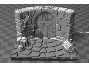 Stand for figurine 1 - The wizard's room entrance