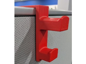"Steelcase Cubicle Coat Hanger for 3"" Walls"