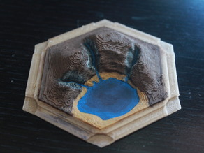 3D Catan Gold Tile
