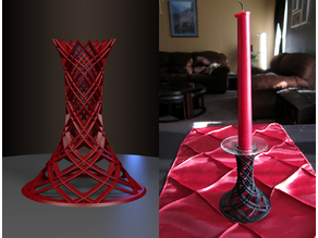 Elegant candlestick holder