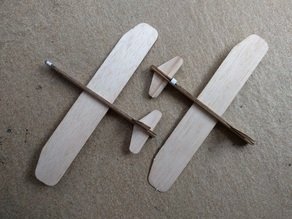 Balsa glider/canard