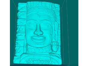 Stone face in Bayon Temple, Angkor Thom, Siem Reap, Cambodia