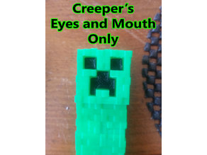 Minecraft Creeper Eye and Mouth Only