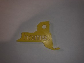 New York State Home Keychain