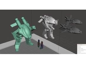 Robotech UEG Armies of the Southern Cross TASC LOGAN Battloid set 1