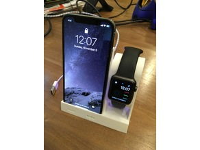 Wireless Charging iPhone X and Watch Stand