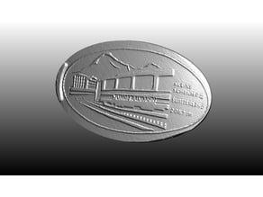 Jungfraubahn Elongated 20 Cents Coin