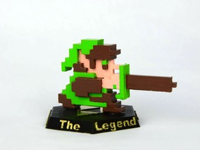 8-Bit Link - The Legend of Zelda NES (Custom amiibo)