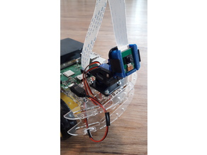 Raspbery Pi Camera mount for micro servo driven pan-tilt kit