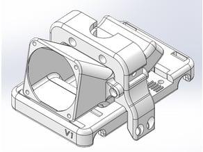 CTC Single Schlitten für Sinterbronze Buchsen inkl. E3D V6 Halter