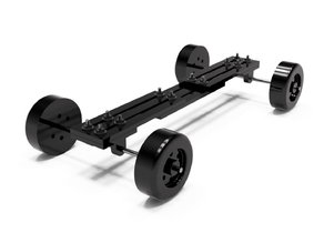 1/24-1/25 Scale Adjustable Mock-Up Chassis for RC, Model, and Slot Car Bodies
