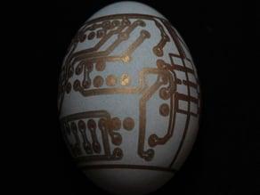 Circuit Board Egg for Egg-Bot