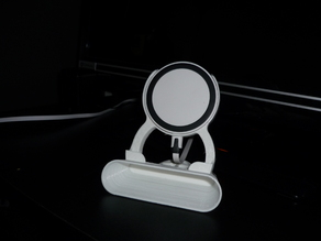Phone stand with wireless charging holder and sound amplifier
