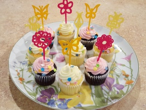 Spring Flower, Butterfly and Bee Multi Purpose Picks