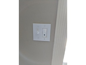 Light switch plate (with and without hook for keys)