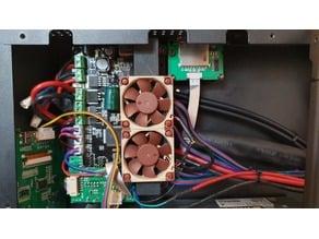 Anicubic i3 Mega/Mega S Lüftertunnel Treiberkühlung 2x40mm Lüfter