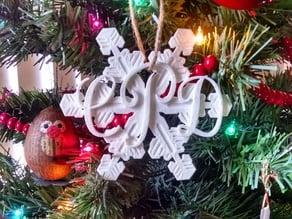 Monogram Snowflake Ornament