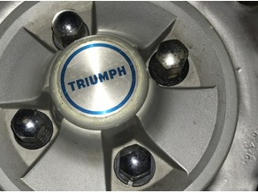 Triumph Spitfire wheel, lug-nut split-ring