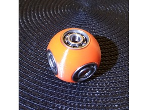 Spinning ball fidget