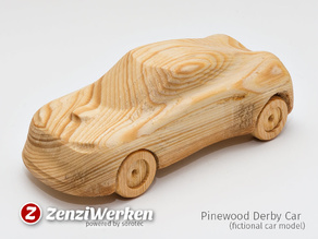 Pinewood Derby Car (Fictional Model) cnc