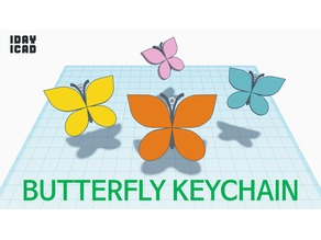[1DAY_1CAD] BUTTERFLY KEYCHAIN