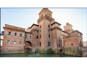 reproduction of the Estense castle Italy