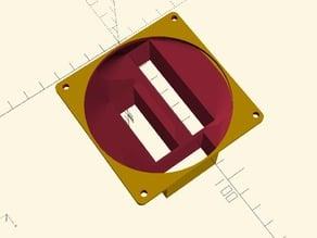 Bruteforce - Ramps 1.4 80x80mm fan duct - Low profile