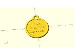 Parametric Pet tag for collar