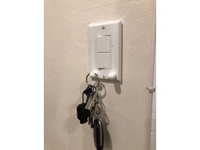 Wall Plate with Key Holder