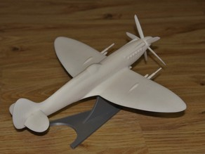 Spitfire Xiv improved files with propeller and stand