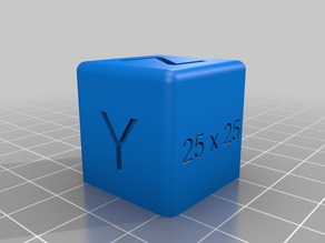 25 x 25 mm Calibration Cube