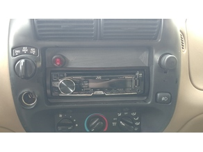 Double din to Single din with aux switch mount hole